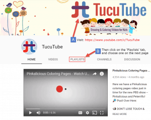 how to access youtube channel playlists