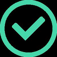 small green checkmark